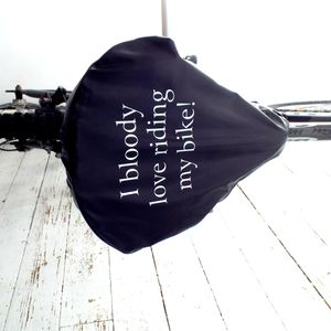 'Bloody Love Riding My Bike' Bike Seat Rain Cover - gifts for her
