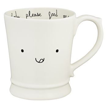 Hungry Kawaii Emoticon Muggsie Mug