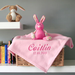 Personalised Baby's Blanket In Pink - baby care
