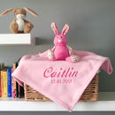 Personalised Baby's Blanket In Pink