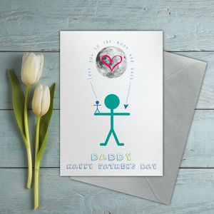 Moon And Back Fathers Day Card - view all father's day gifts