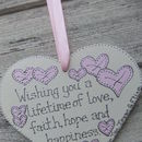 Personalised Double Sided Christening Keepsake