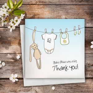 Personalised Baby Thank You Card