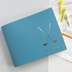 Personalised Leather Golf Notes