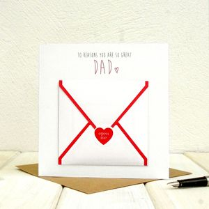 10 Reasons You Are So Great Dad Fathers Day Card