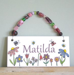 Personalised Room Plaques For Girls - door plaques & signs