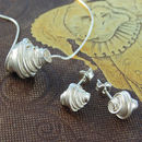 Coiled Sterling Silver Jewellery Set