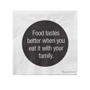 'Food Tastes Better'.. Quote Paper Napkins