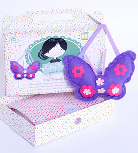 Butterfly Sewing Craft Kit In Purple Girls Gift - creative kits & experiences