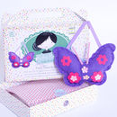 Stocking Filler Butterfly Sewing Craft Kit In Purple