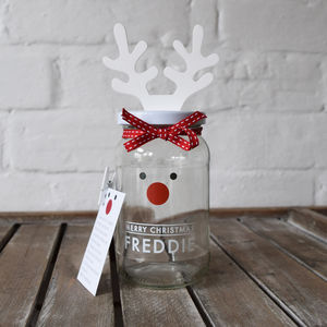 Personalised Decorate Your Own Rudolf Treat Jar - christmas home accessories