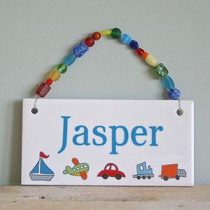 Personalised Room Plaques For Boys