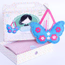 Butterfly Sewing Craft Kit In Turquoise Birthday Gift