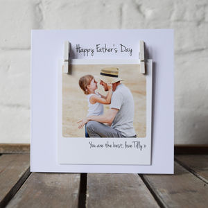 Personalised Father's Day Photo Message Card