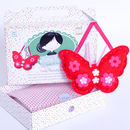 'Make & Sew' Felt Butterfly Kit In Red