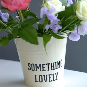 Personalised Word / Name Bucket - gardening
