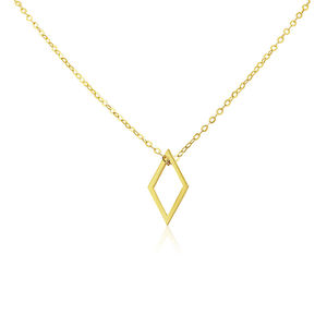 Diamond Lotus Single Necklace