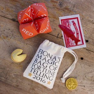 Personalised Bag Of Good Fortune - wedding favours