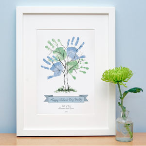 Father's Day Hand Print Tree - personalised