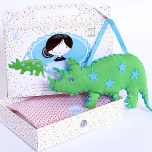 Dinosaur Sewing Craft Kit In Green Birthday Gift