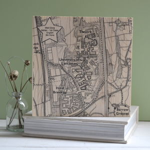 Personalised University Map Graduation Print - graduation gifts