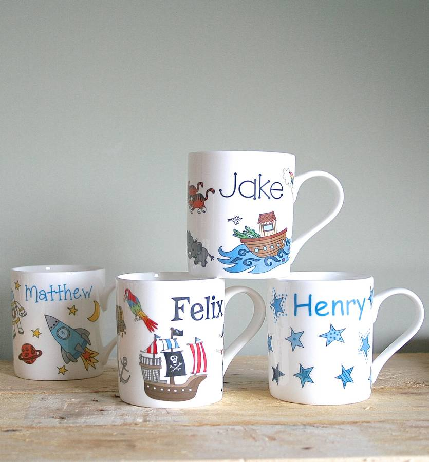 personalised mug for boys by sparkle ceramics. Black Bedroom Furniture Sets. Home Design Ideas
