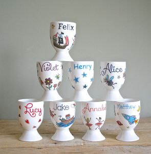 Personalised Egg Cups - egg cups & cosies