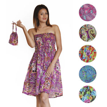 Travel Tube Dress with all color variations