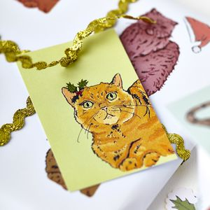 Ginger Cat Christmas Tags