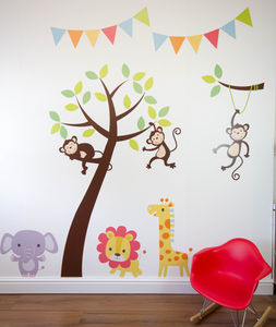 Jungle Friends Tree Wall Stickers - dining room