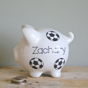 Personalised Football Piggy Bank