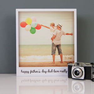 Personalised Vintage Polaroid Father's Day Canvas