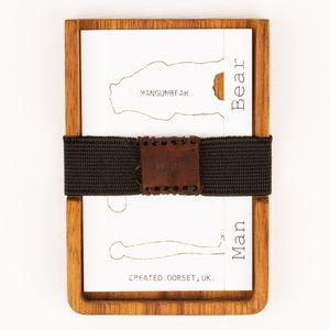 Wooden Evening Slim Line Wallet