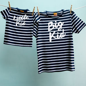 Matching Big Kid Little Kid T Shirt Set Dad And Child - men's fashion