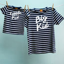 Matching Big Kid Little Kid T Shirt Set Dad And Child