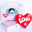 Love Heart Sewing Craft Kit In Red Birthday Gift