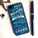 Personalised 'Daddy I Love You Because' iPhone Cover