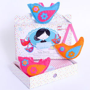 'Make And Sew' Trio Of Birds Kit In Brights - toys & games
