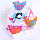 'Make And Sew' Trio Of Birds Kit In Brights