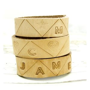Four Personalised Leather Napkin Rings - new home gifts