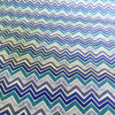 Gift wrap - blue zig zag