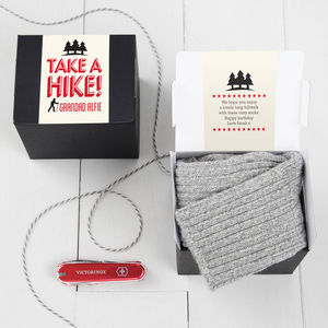 Take A Hike! Hillwalkers Gift Sock And Chocolate Set - gifts for grandparents