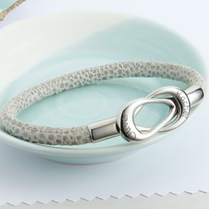 Leather Infinity Bracelet With Personalised Clasp - what's new