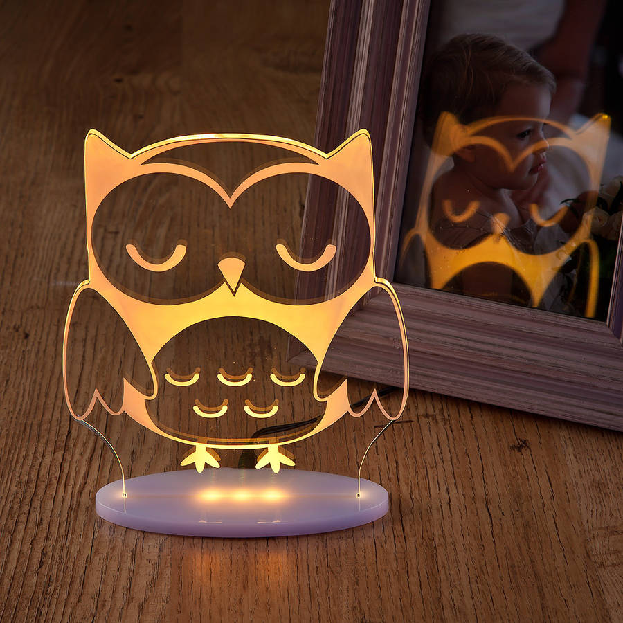 Girls And Boys Remote Controlled Owl Night Light By
