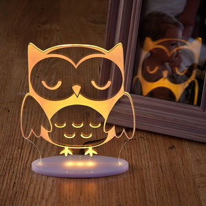 Girls And Boys Remote Controlled Owl Night Light - children's room