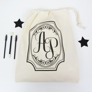 Personalised 'Monogram' Draw Cord Bits And Storage Bags