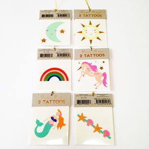 Cute Tattoos For Children - party bags and ideas