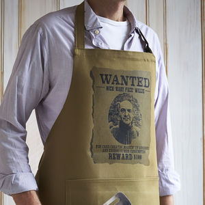 Personalised 'Wanted' Apron - aprons