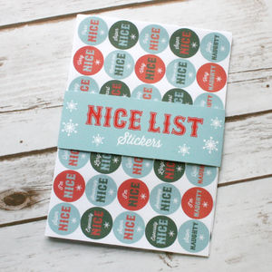 Santa's Nice And Naughty Christmas Stickers - christmas stickers