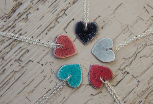 Enamel Heart Necklace - necklaces & pendants